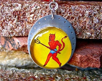 loteria devil El Diablo necklace
