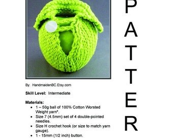 DIY Apple Cozy Sweater Jacket - Knit Pattern - DIGITAL Instant Download