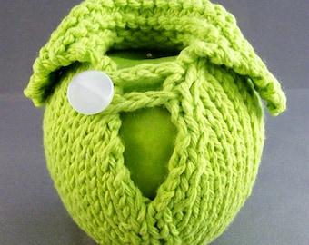 Apple Sweater - Handknit - Hot Green