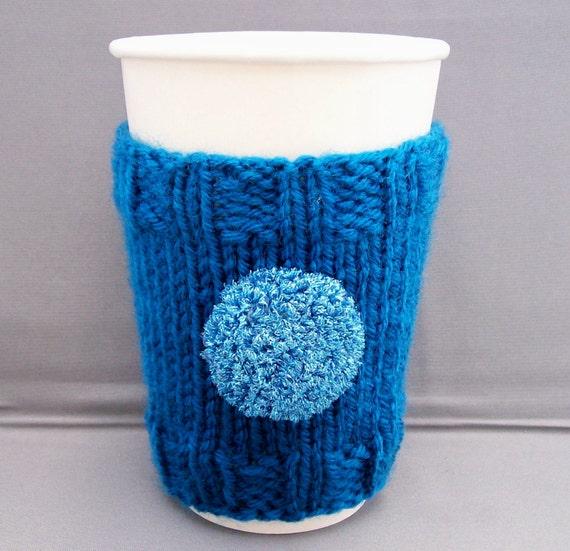Glitter Glam Coffee Cup Cozy - Sapphire Blue Sleeve Teacher Office Gift under 25