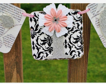 Custom made Wedding Chair Banner BRIDE - GROOM Garland Wedding Decor