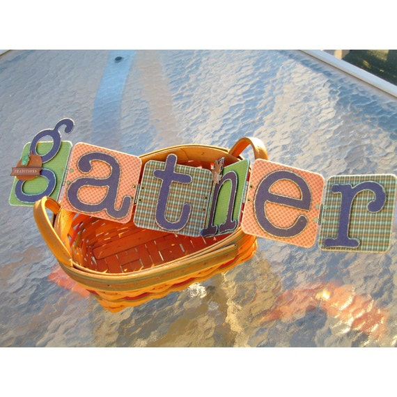 50% Off Thanksgiving Decoration - GATHER sign