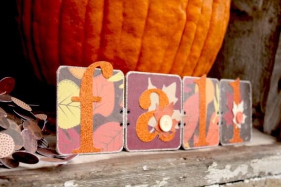 Fall Decoration - Fall Sign - Halloween Banner - Thanksgiving Garland