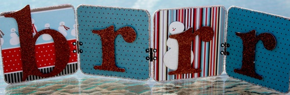 CLEARNACE - 50% off Christmas Decoration - BRRR Sign - Winter Banner