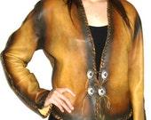 Custom Leather Shirt Renaissance Shirt Steam Punk Leather Jacket Medieval Jacket Custom Handmade by Debbie Leather