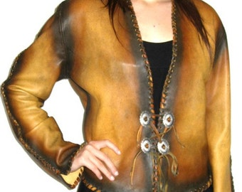 Custom Leather Shirt Renaissance Shirt Steam Punk Leather Jacket Medieval Jacket Custom Handmade by Debbie Leather