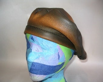 Custom Leather Beret in Genuine Leather Tam French Hat Artisan Made Deerskin Newsboy Cap Handmade by Debbie Leather