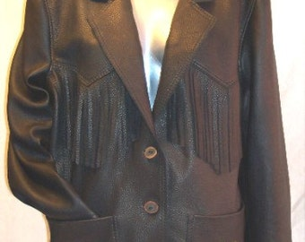 Artisan Made Leather Jacket Custom Made Fringed Buckskin Coat Custom Leather Coat Handmade by Debbie Leather