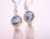 Blue Tensha Beads Earrings, BHV