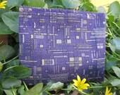 Funky Purple Retro Change Purse or Wallet