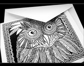 Owl Print Greeting Card