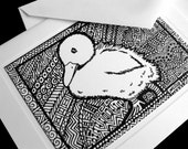 Baby Duckling Card - Very cute Intricate artwork