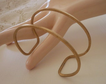 Vintage Brass Cuff Bracelet Blank For Wire Wrapping