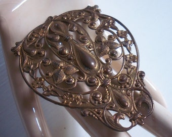 Vintage Large Brass Stamping Pierced