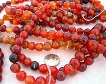 Carnelian Round Beads 10mm