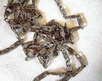 Vintage Soft Silver Filigree Chain