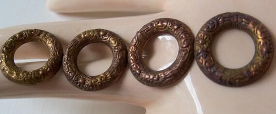 Vintage Circle Brass Ox Stampings