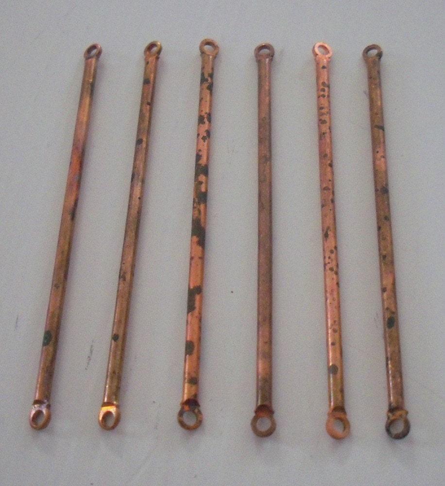 Vintage metal rod connectors