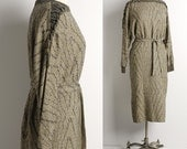 Vintage 1980s Slouchy NORTHERN LIGHTS Woven Sweater Dress