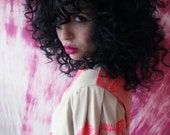 ON SALE // Ready To Ship // Limited Edition Nude and Pink Screenprinted Top // by Replicca // size Medium - Large