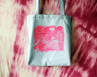 ON SALE // Ready To Ship // Screenprinted Tote Bag / by Replicca / last one