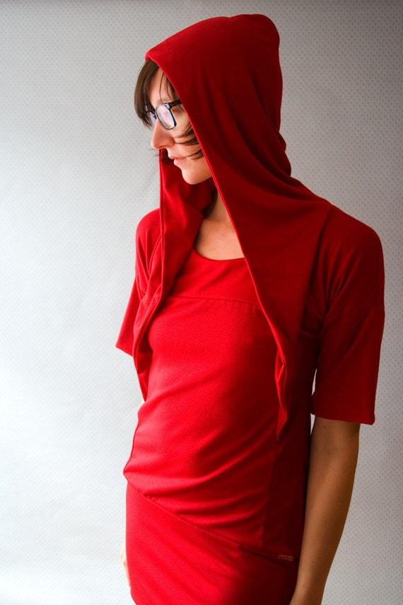Little red hiding HOOD \/ by Replicca \/ size Large