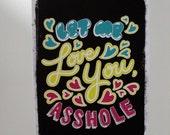 Let Me Love You postcard