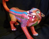 New Red Cougar Oaxacan Woodcarvings from Fuentes Family