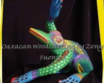 Clearance Sale - Folkart Frog by Zeny Fuentes of Oaxaca Mexico