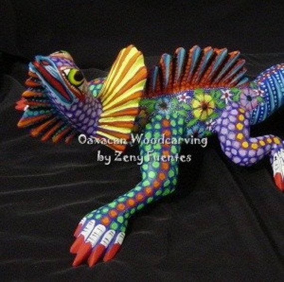 For Barbara - Clearance Sale - Frilled Flower Lizard with Curly Tail by Zeny Fuentes