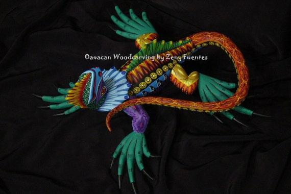 Folkart Lizard with Green feet by Zeny Fuentes of Oaxaca Mexico