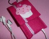 pink cupcake iPod nano cozy