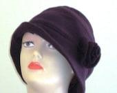Cloche hat SEWING PATTERN vintage style warm flapper 1920's style hat pattern made in fleece