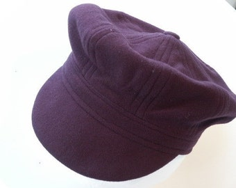 Adult newsboy hat sewing pattern cap size medium hat medium size CASHMERE WOOL