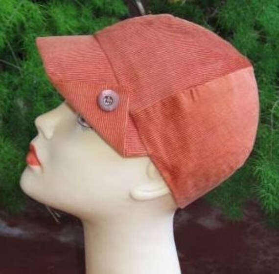 Hat sewing pattern  22 inch headsize ladies flip peak sectional cap pattern