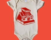 SX-70 Camera  Organic Onesie for Baby
