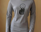Vintage Camera Shirt Womens Brownie Hawkeye Tshirt