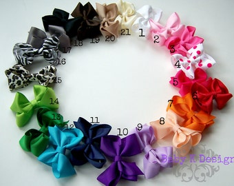 "5 Baby Girl Bow Clip. Newborn Snap Clip. Small Baby Bow. Infant Snap Clip. Little Girl Bow. 2.5"" Bow Clip. Toddler Girls  2.5"" Bow Hair Clip"