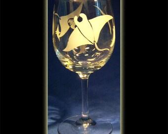 Manta Ray Wine Glass