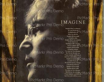 John Lennon - Wooden Plaque