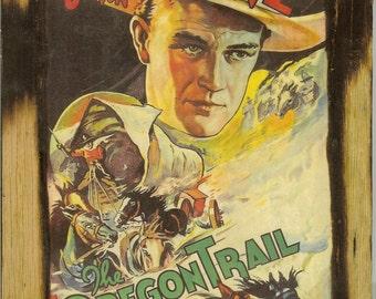 John Wayne - The Oregon Trail Wooden Plaque