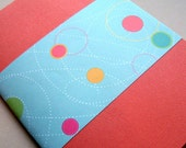 FREE SHIPPING Graph Lined Notebook in Salmon