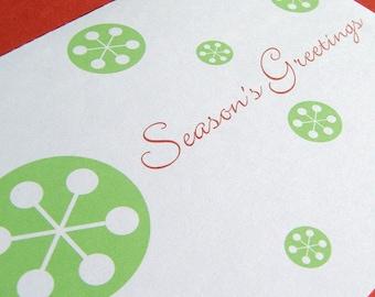 SALE Holiday Card Set // Modern Snowflakes