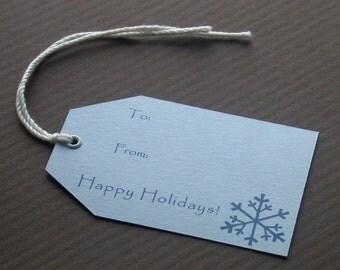 SALE Holiday Tags // Blue Snowflake