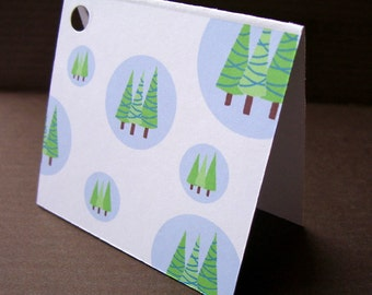 SALE Holiday Gift Tags // Evergreen Trees
