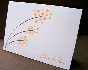 Orange Dots Thank You Cards