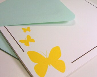 Folded Note Card Set - Butterfly