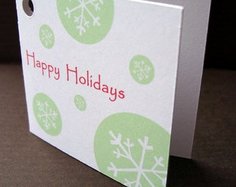 SALE Holiday Gift Tags // Happy Holidays Snowflake