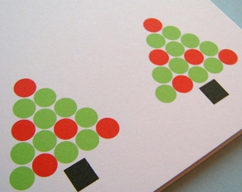 SALE Holiday Card Set // Modern Trees