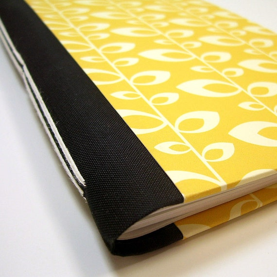 Handmade Lined Journal // Retro Mustard